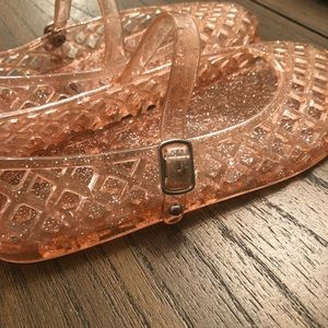 Old Navy Shoes - Old Navy Pink Glitter Jelly Sandals
